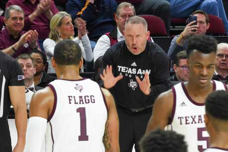 A&M reached the NIT in Billy Gillispie's first season 15 years ago and the Aggies might be in position to do that again as they find their footing under first-year coach Buzz Williams, above.