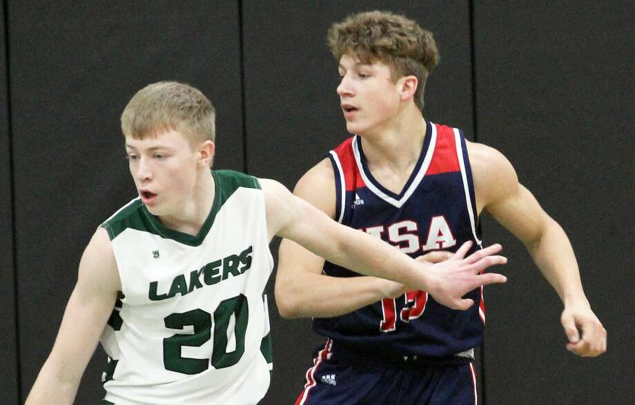 It was standing-room-only in Pigeon Friday night as Laker played host to the USA Patriots. Photo: Mark Birdsall/Huron Daily Tribune