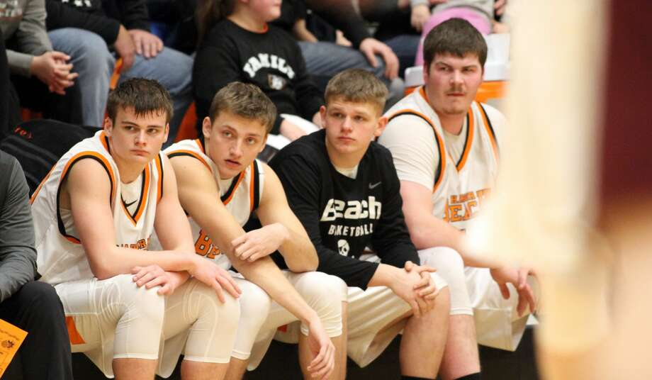 Cass City upends Harbor Beach in a 62-59 Red Hawks victory on Friday, Feb. 21. Photo: Eric Rutter/Huron Daily Tribune