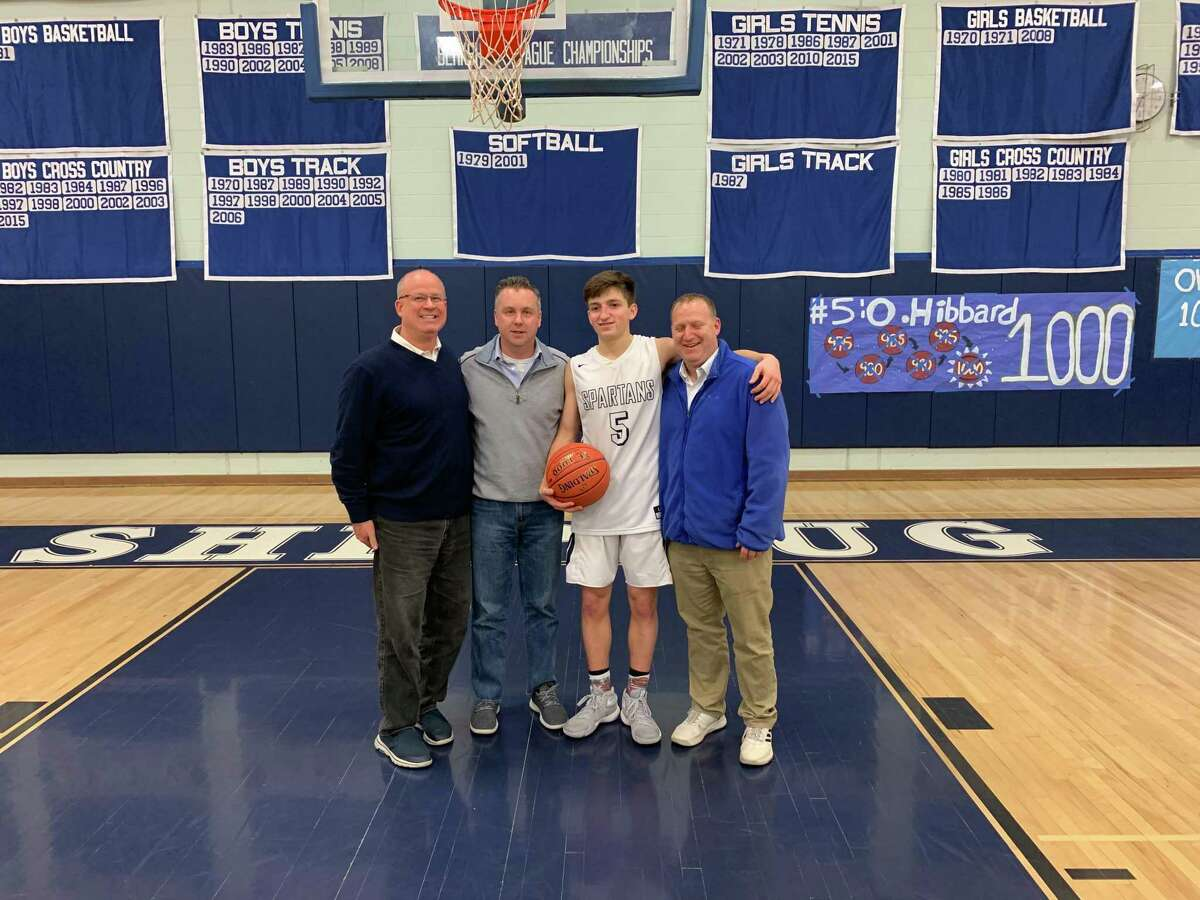 Shepaug's Owen Hibbard hit his 1,000th career point Tuesday, the fourth in Spartan history, along with Brian O'Neil (1983), Brett Bartkiewicz (1988) and record holder Erik Kershnar (1,191 points - 1987).