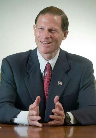 Connecticut Attorney General Richard Blumenthal, in Stamford, Conn. Oct. 10th, 2006. Photo: File Photo / Stamford Advocate File Photo