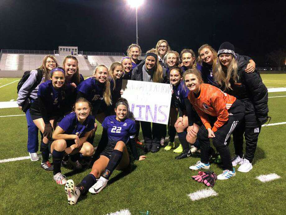 Montgomery girls soccer coach Brandi Wilkinson won her 100th game as the Lady Bears topped New Caney 3-0 on Friday, Feb. 21, 2020. Photo: Photo Submitted