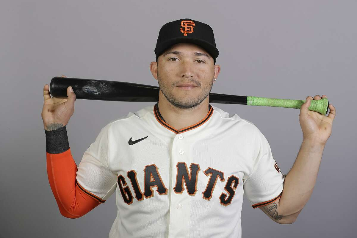 This is a 2020 photo of Yolmer Sanchez of the San Francisco Giants baseball team. This image reflects the 2020 active roster as of Tuesday, Feb. 18, 2020, when this image was taken. (AP Photo/Darron Cummings)
