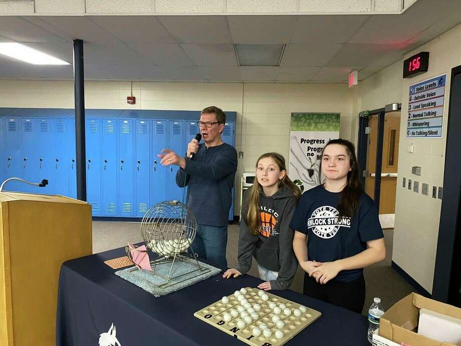 Hemlock Public School District hosted its first Senior Citizen bingo event at Hemlock Middle School on Feb. 17. (Photo provided)