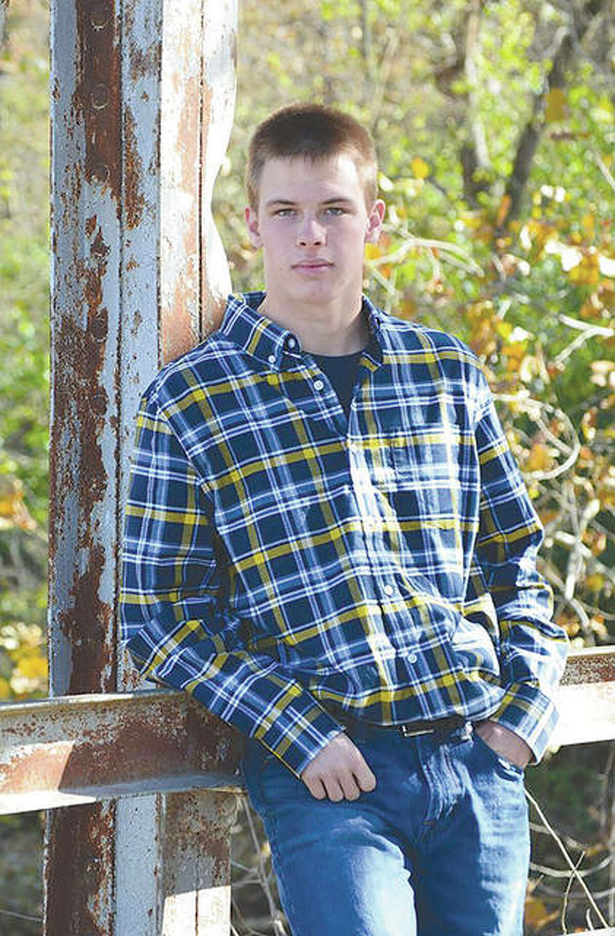 Pittsfield High School student Cody M. Walston shows off some of the plaid attire that was his trademark.