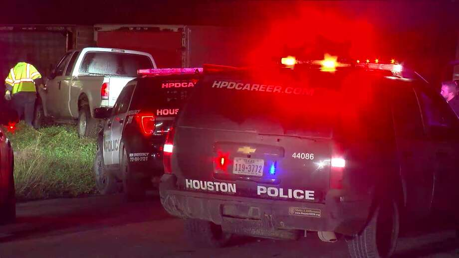 Two young people allegedly led police on a 50-minute, early-morning pursuit in a stolen pick-up truck around 4 a.m. Saturday in Houston, police said. Photo: On Scene