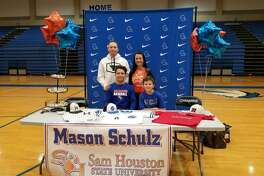 Clear Springs pitcher Mason Schulz has signed a national baseball letter of intent with Sam Houston State University.