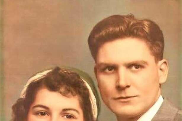 Lloyd and Mildred Behmeat their wedding