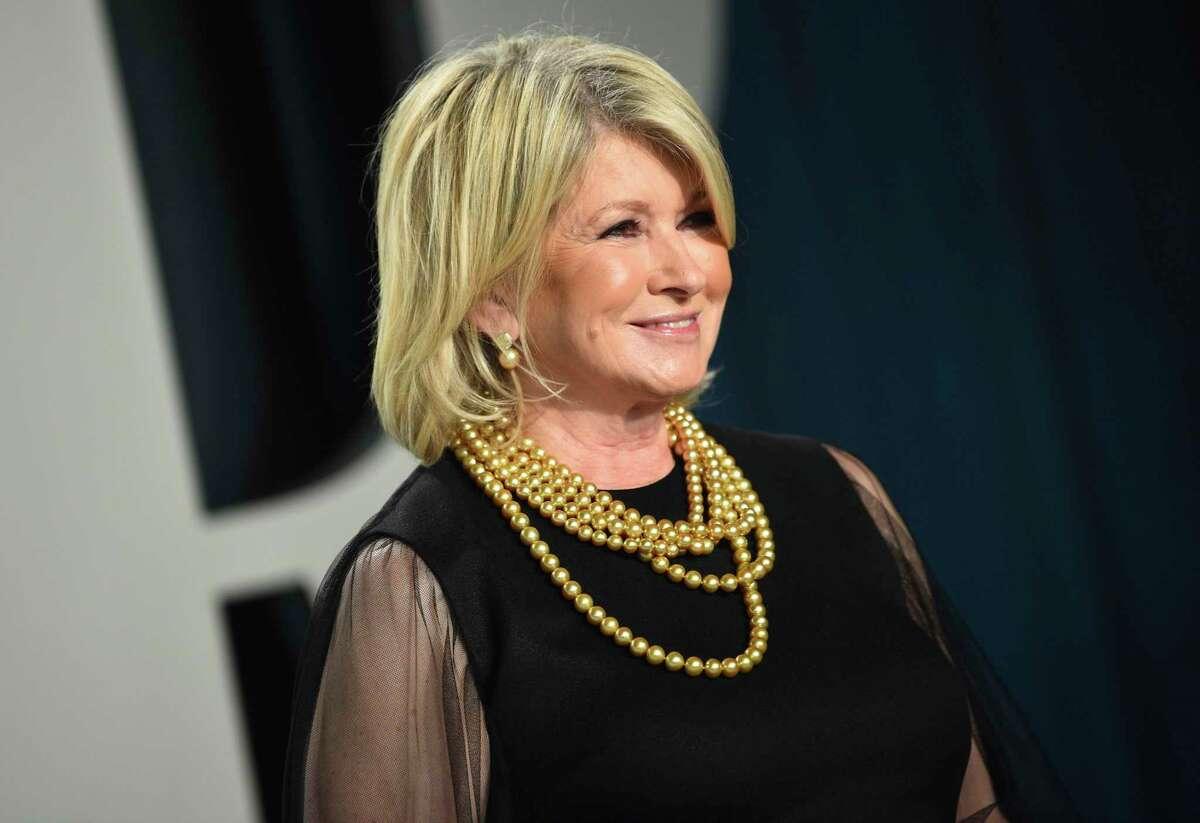 Martha Stewart arrives at the Vanity Fair Oscar Party on Feb. 9 in Beverly Hills, Calif.