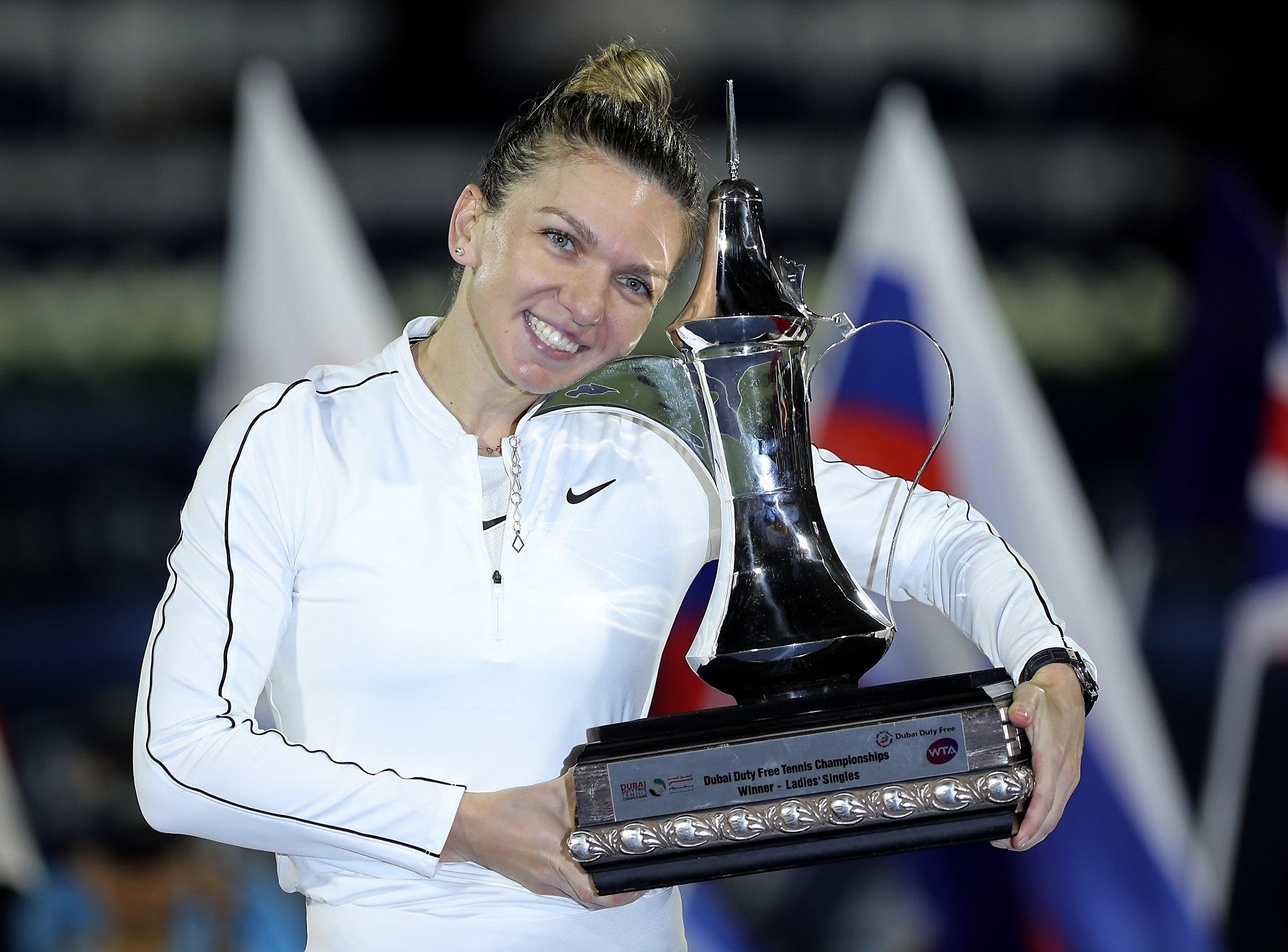 Simona Halep wins Dubai tiebreaker to secure 20th singles title