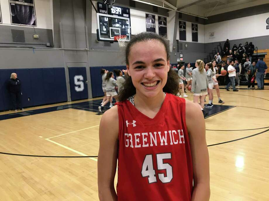 Greenwich freshman forward Mackenzie Nelson helped pace the Cardinals to a 54-41 win vs. Norwalk in the FCIAC Tourament quarterfinals. Photo: David Fierro /Hearst Connecticut Media
