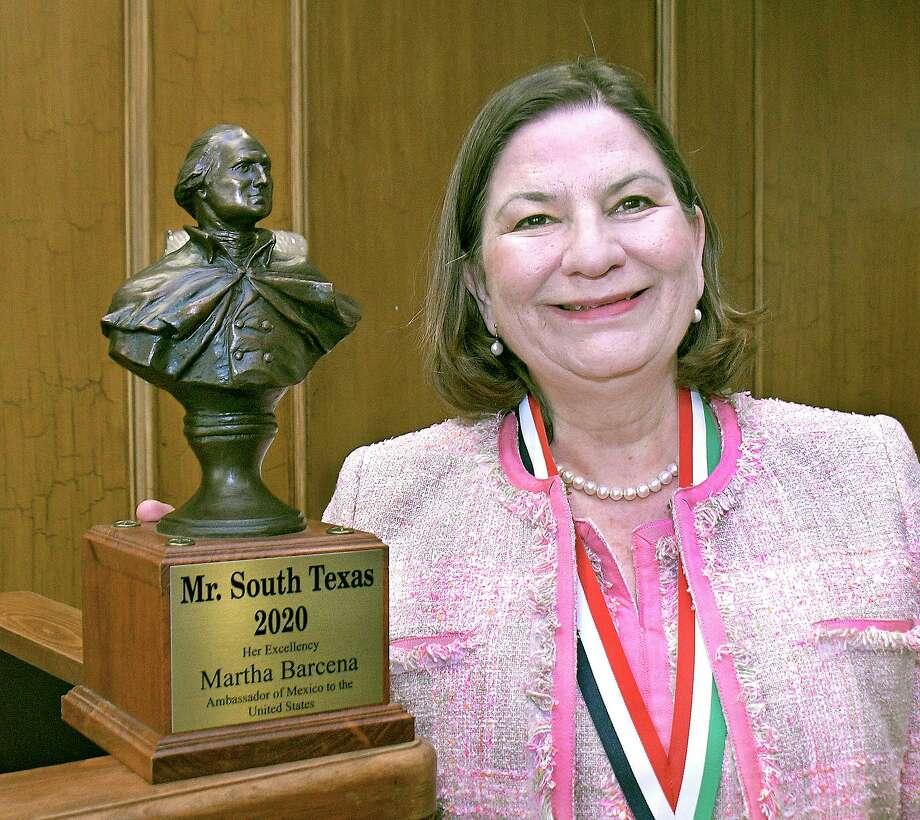 Martha Bárcena, Embajadora de México en Estados Unidos, fue reconocida como Mr. South Texas 2020 en una comida en su honor en el Laredo Country Club, el 22 de febrero de 2020. Photo: Cuate Santos /Laredo Morning Times / Laredo Morning Times