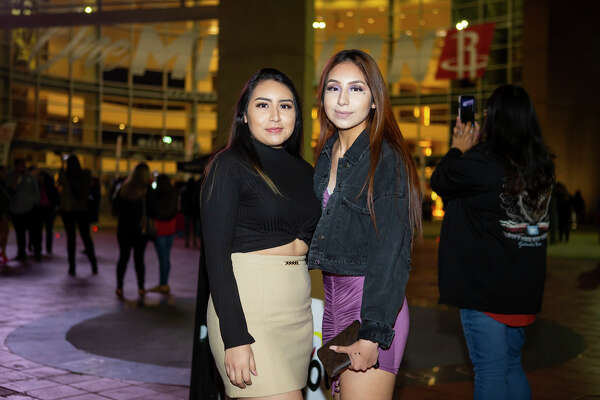Fans of the band Aventura wait for the start of their show, Saturday, Feb. 22, 2020, at the Toyota Center in Houston.