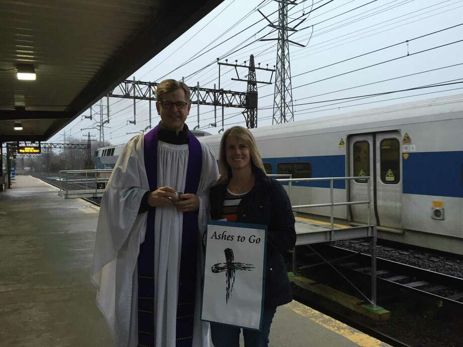 St. Luke's Darien will offer 'Ashes to Go' at the Noroton Heights Train Station on Ash Wednesday morning, Feb. 26. Photo: Contributed