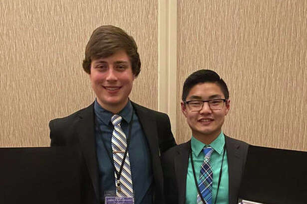 SIUE School of Pharmacy third-year students (L-R) Jacob Troeckler and Alex Hagans won the Student National Pharmaceutical Association's (SNPhA) Regional Clinical Skills Competition held Feb. 14-16 in Lexington, KY.