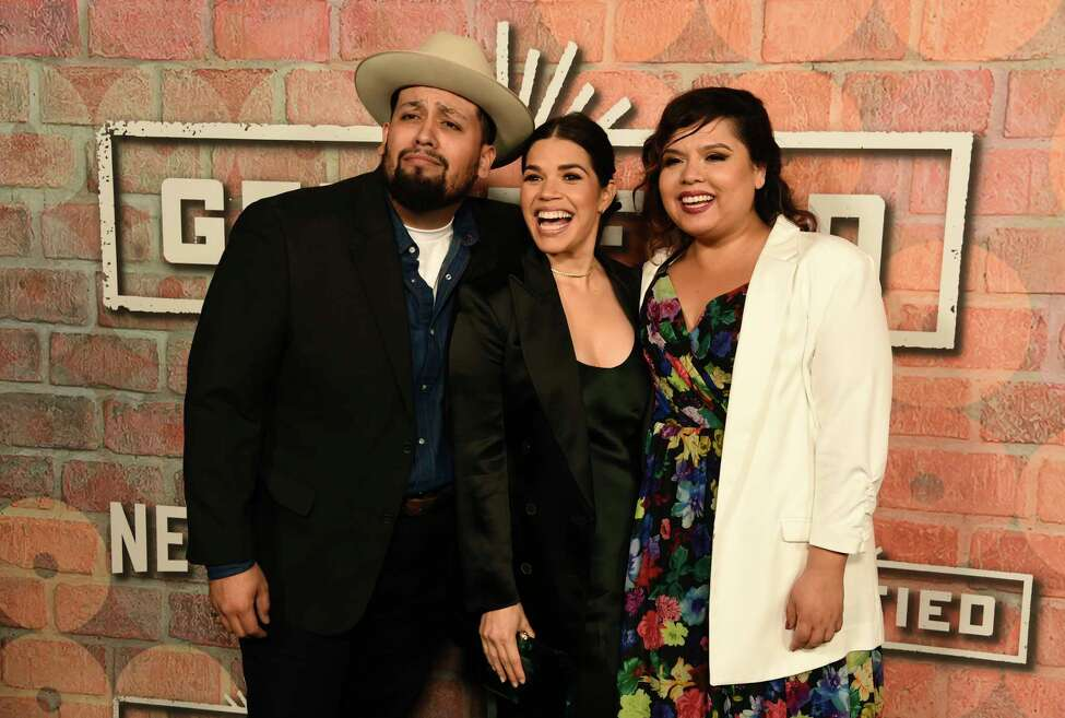 America Ferrera, center, producer of the Netflix series