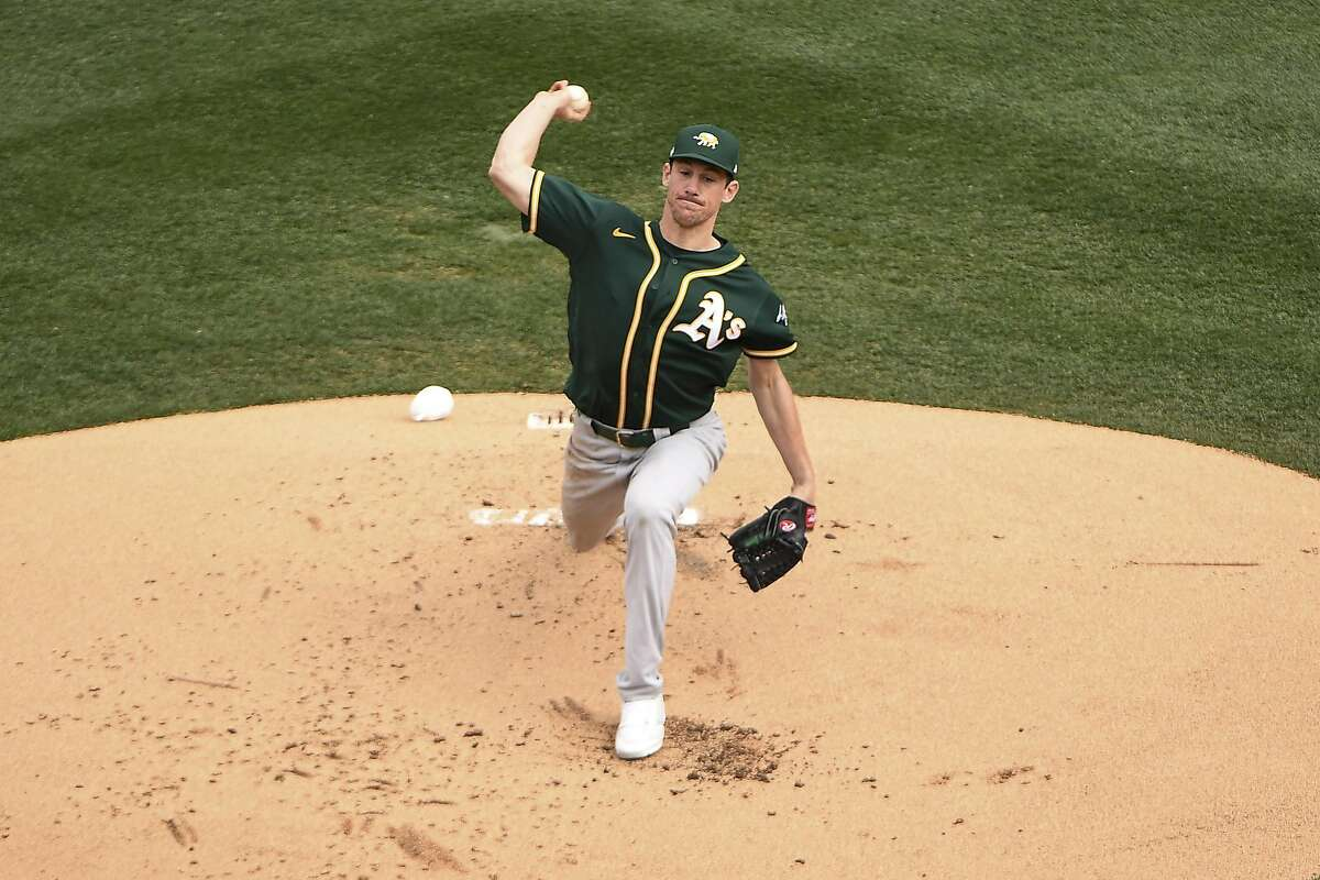 SCOTTSDALE, ARIZONA - FEBRUARY 23: Chris Bassitt #40 of the Oakland Athletics delivers a pitch in the spring training game against the Arizona Diamondbacks at Salt River Fields at Talking Stick on February 23, 2020 in Scottsdale, Arizona. (Photo by Jennifer Stewart/Getty Images)