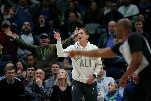 Dallas Mavericks owner Mark Cuban, arguing a call this month against Utah, has once again ripped the NBA's officials after a league review late in a loss to Atlanta on Saturday.