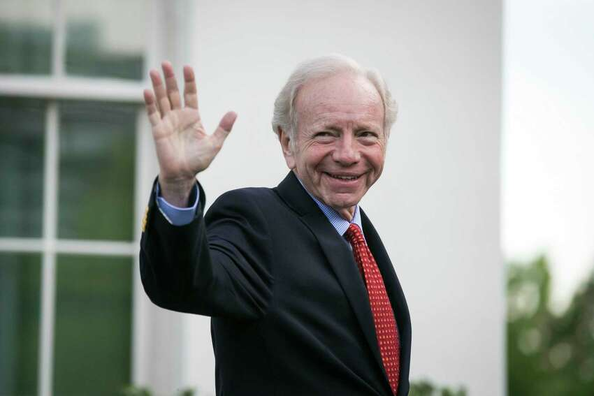 FILE -- Joe Lieberman, the former Democratic senator and vice-presidential nominee, departs the White House in Washington, May 17, 2017. Lieberman, once President Donald Trumpa€™s preferred candidate for FBI director, has withdrawn his name from consideration, citing his law firma€™s central role in Trumpa€™s legal defense team. (Al Drago/The New York Times) ORG XMIT: XNYT119