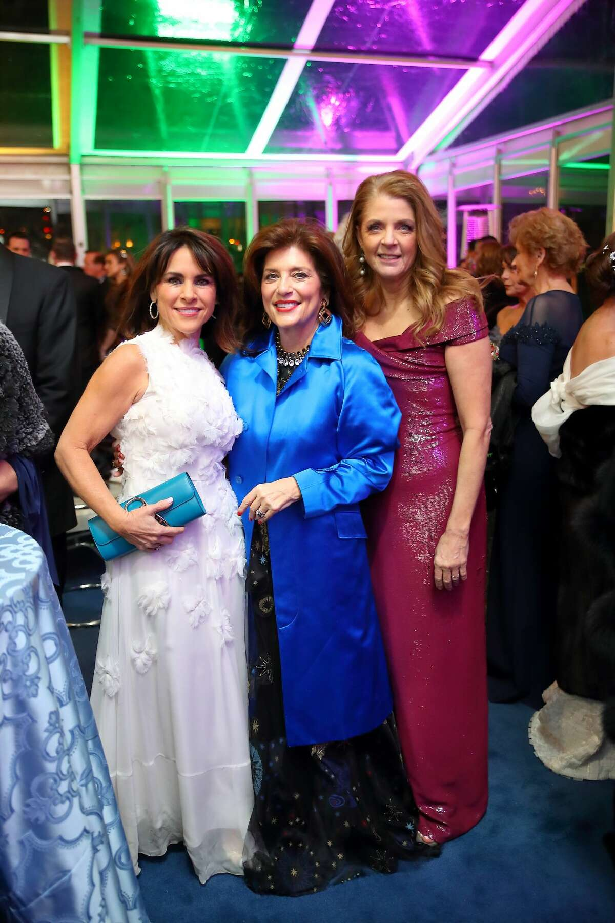 Maria Bush, Dancie Ware and Paige Fertitta at the San Luis Salute in Galveston, Texas on February 21, 2020