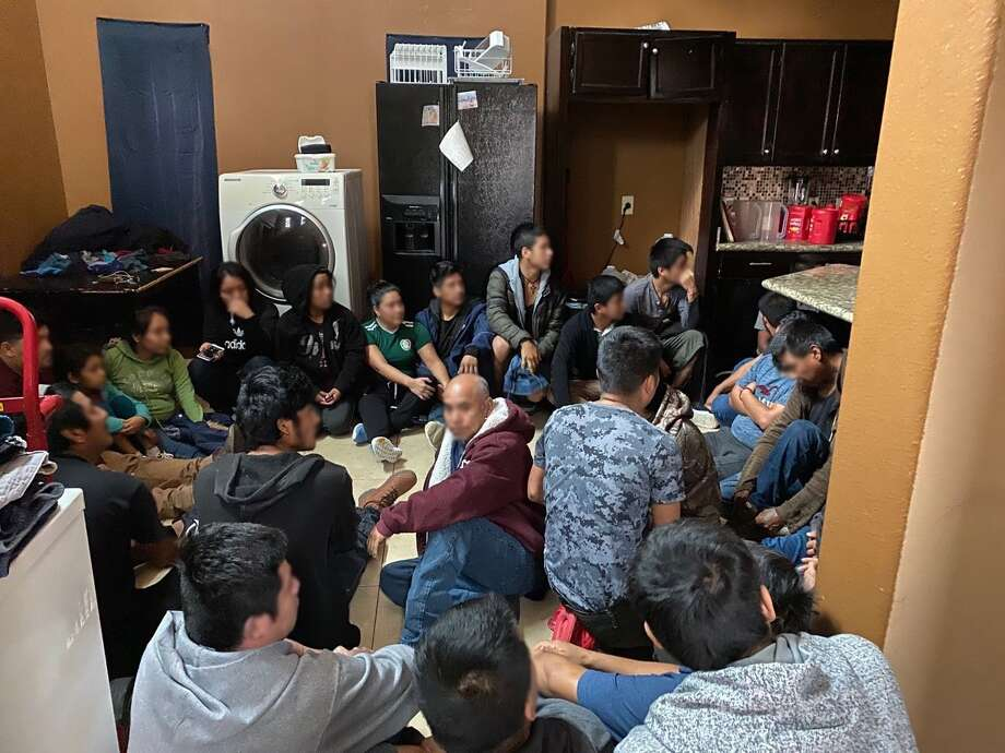37 immigrants, held against their will, were rescued by authorities at a stash house near middle school. Photo: Courtesy