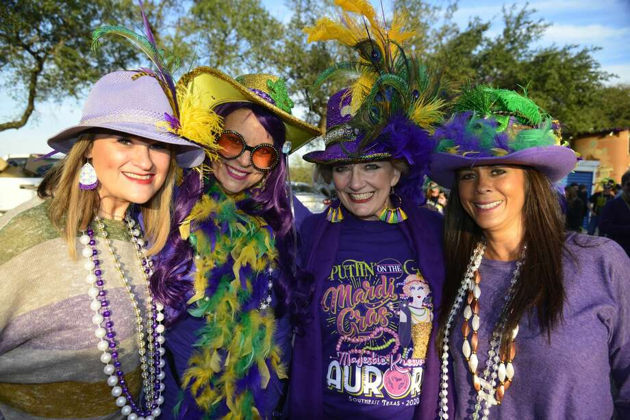 Revelers packed downtown Beaumont for Mardi Gras Southeast Texas Feb. 20-23, 2020. Photo: John Fulbright