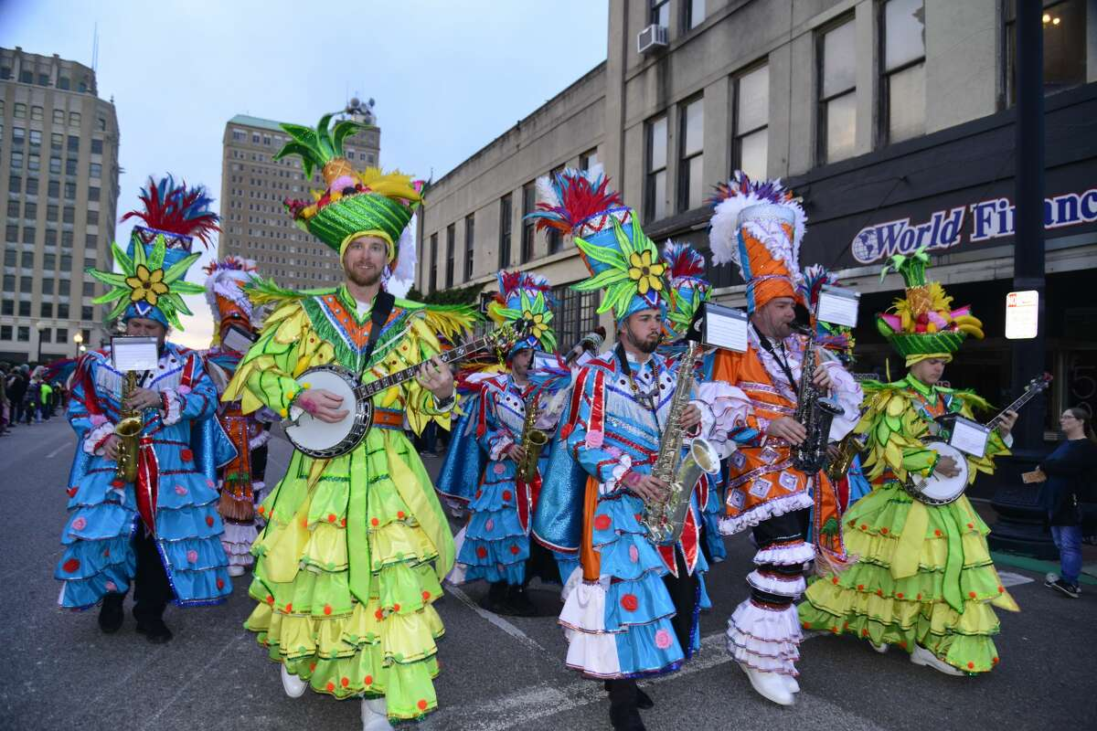 Revelers packed downtown Beaumont for Mardi Gras Southeast Texas Feb. 20-23, 2020.