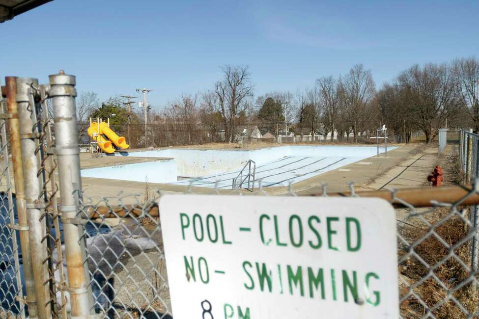 A view of the closed pool at Knickerbacker Park on Monday, Feb. 24, 2020, in Troy, N.Y. (Paul Buckowski/Times Union)