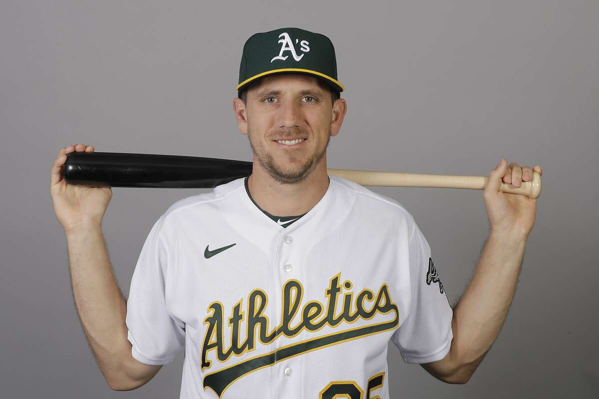 This is a 2020 photo of Stephen Piscotty of the Oakland Athletics baseball team. This image reflects the 2020 active roster as of Thursday, Feb. 20, 2020, when this image was taken. (AP Photo/Darron Cummings)