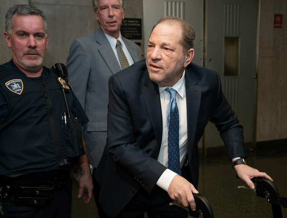 Harvey Weinstein arrives at Manhattan Criminal Court Monday, Feb. 24, 2020 in Manhattan, New York. Photo: Barry Williams, TNS