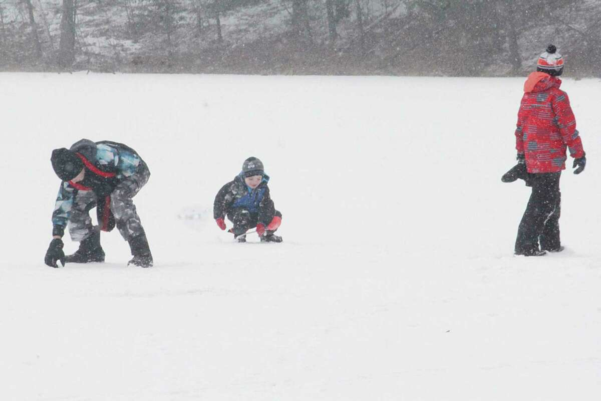Area lakes have anywhere from 6 to 10 inches of ice, according to anglers. (Pioneer file photo)
