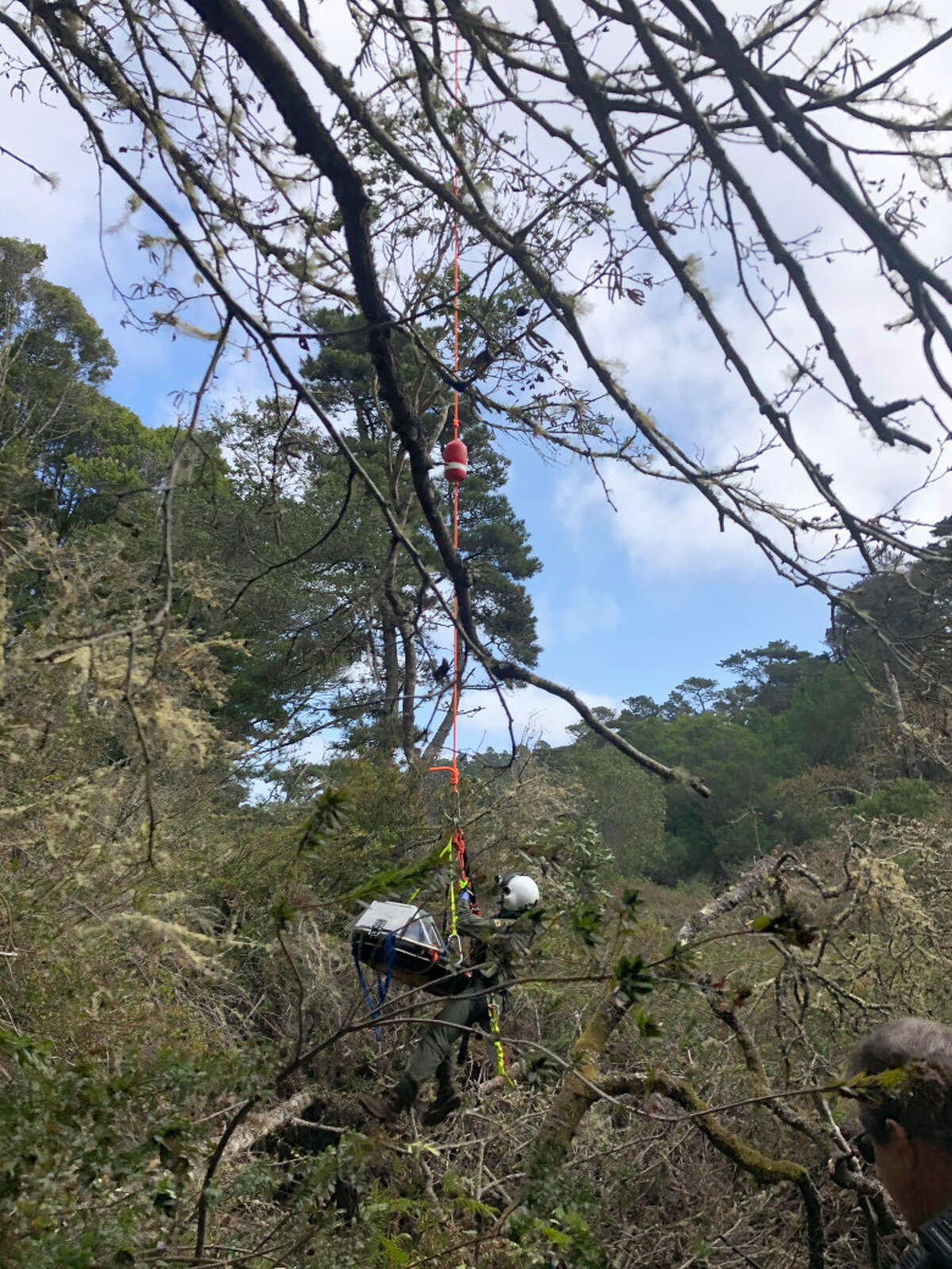 Asearch team works torescue a Palo Alto couple that went missing in westMarinCounty in February 2020.
