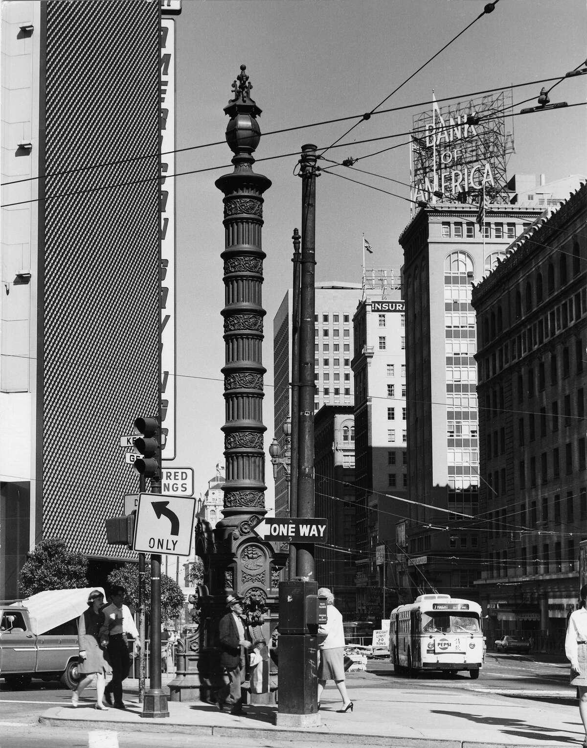 San Francisco's Market Street in 1969.