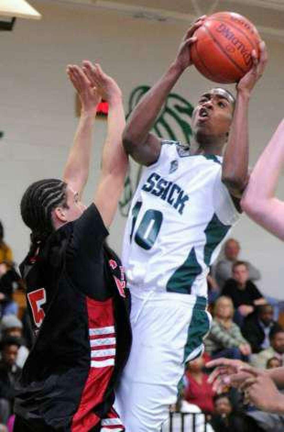 "Kentwan ""Thomas"" Robinson during his basketball playing days at Bassick High School in Bridgeport."