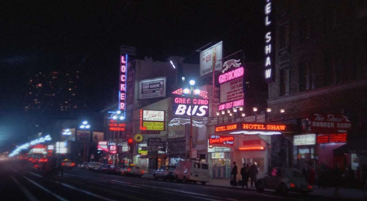 Archive footage of San Francisco's Market Street in the 1960's.