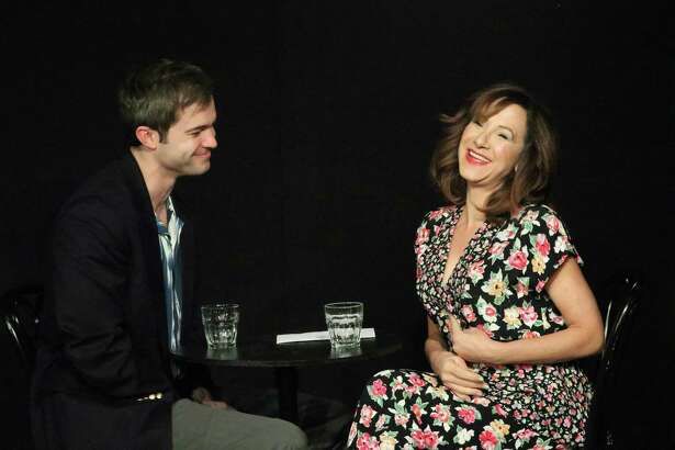 """Prudence and Bruce (Dana DiCerto and Aaron Newcome) have what is likely the world's worst first date in """"Beyond Therapy,"""" but somehow manage to enjoy themselves enough to go for a second date. The show will be onstage at Curtain Call's Dressing Room Theatre in Stamford, March 5-15."""