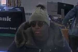 Woodbridge police are searching for a suspect after an alleged robbery at TD Bank on Amity Road Monday.