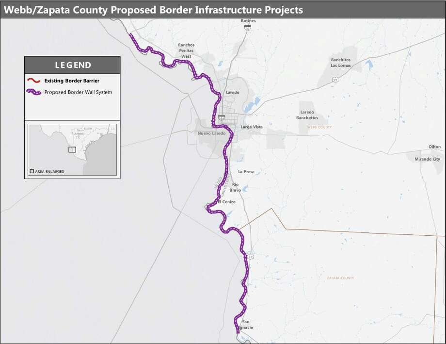 See Where The Laredo Border Wall Is Planned On Newly Released Map