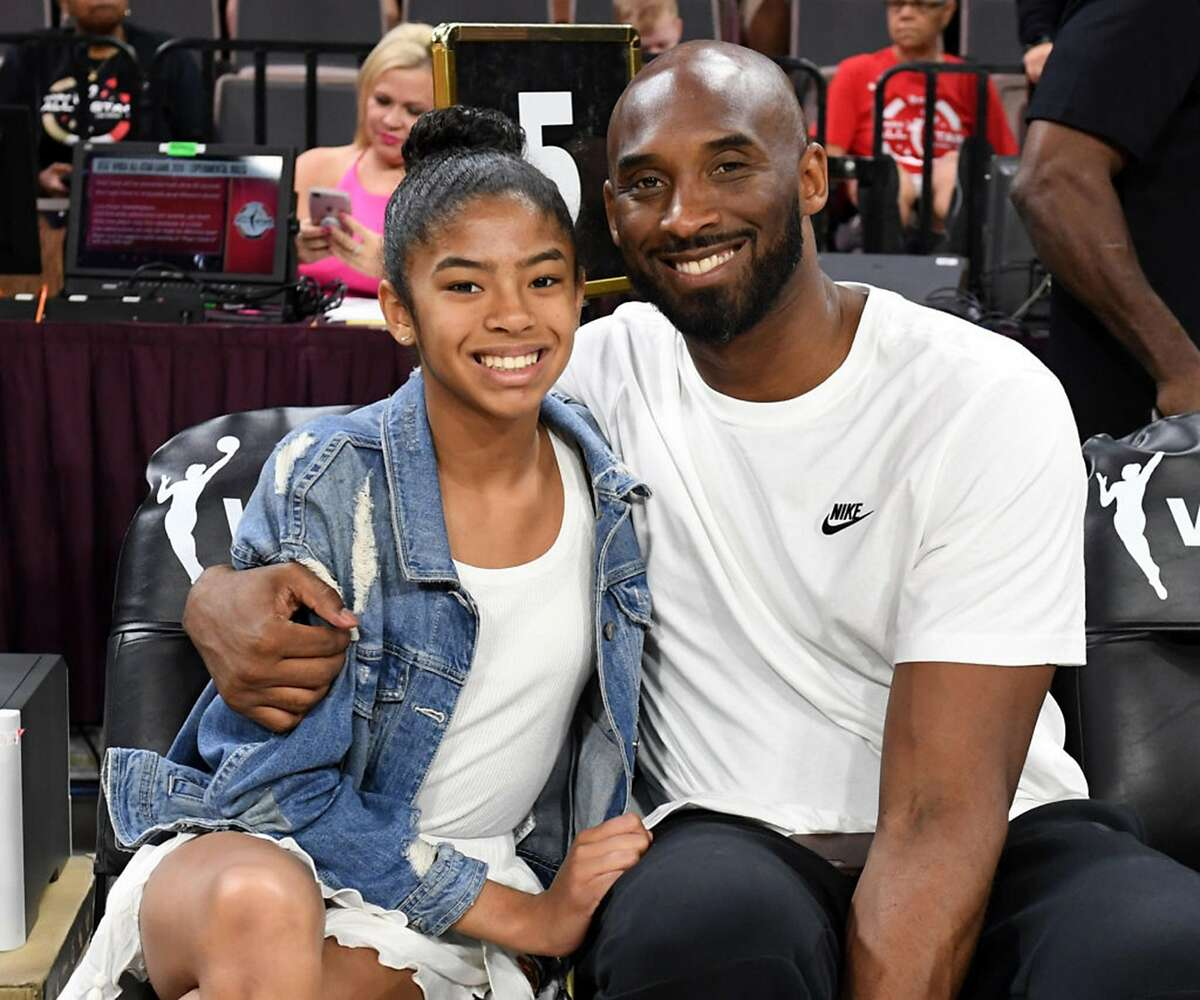 Gianna Bryant and her father, former NBA player Kobe Bryant, attend the WNBA All-Star Game 2019 at the Mandalay Bay Events Center on July 27, 2019 in Las Vegas, Nev. (Ethan Miller/Getty Images/TNS)