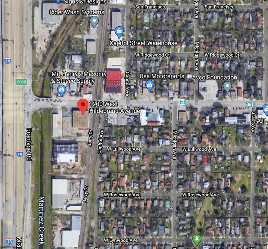 A man has died after he crashed into a utility pole Sunday on the city's North Side, San Antonio police said. The map shows an approximate location of the accident. Photo: Google Maps