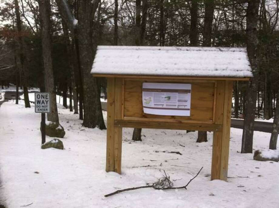 Members of the Torrington Trails Network led a First Day Hike at Burr Pond State Park on Jan. 1. Photo: Sharon Waagner / Contributed Photo
