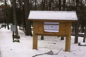 Members of the Torrington Trails Network led a First Day Hike at Burr Pond State Park on Jan. 1.