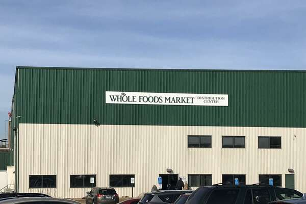 The front of Whole Foods Market's Cheshire, distribution center on East Johnson Avenue