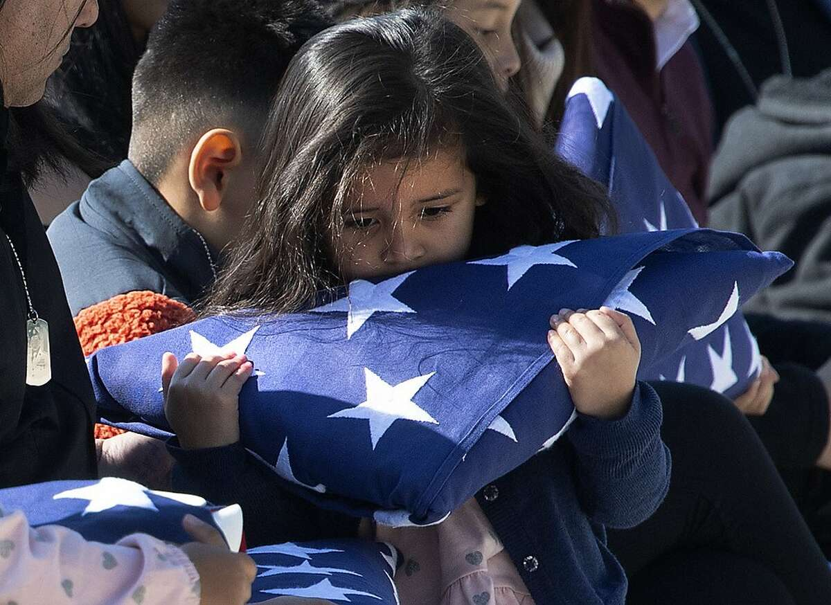 Eden Gutierrez, daughter of Sgt. 1st Class Javier Jaguar Gutierrez, one of two soldiers killed more than a week ago in Afghanistan in what the military has described as an