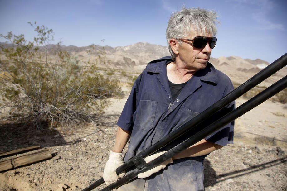 """Mad"" Mike Hughes,' a self-taught rocket scientist who believes the Earth is flat .He wanted to fly to the edge of outer space to see if the world is flat or round has died after his home-built rocket blasted off into the desert sky and plunged back to earth. ""Mad"" Mike Hughes, 64, was killed on Saturday after his rocket crashed. Photo: Paul Buck/EPA-EFE/Shutterstock / Copyright (c) 2017 Shutterstock. No use without permission."