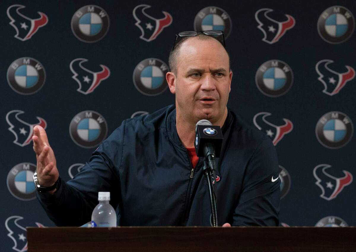 Texans coach Bill O'Brien has been operating from home, often his back porch, as the team prepares for the draft during the coronavirus restrictions.