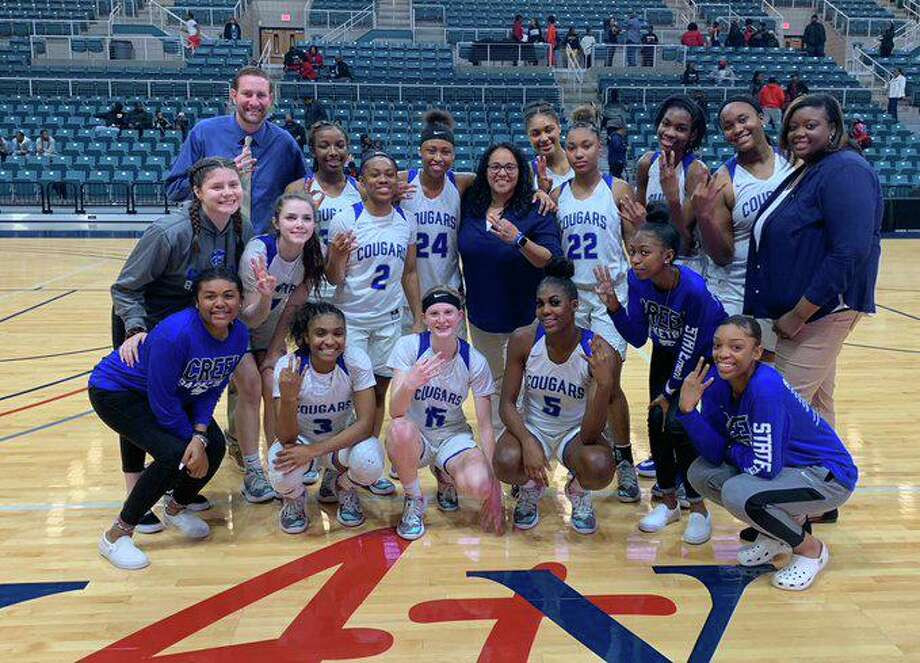The Lady Cougars are scheduled to face Heights in the Class 6A Region 3 regional round, Feb. 24 at 5:30 p.m., at the Merrell Center. Photo: CFISD