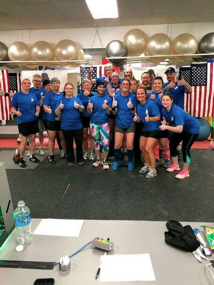 Participants in Saturday's kettlebell event relax after a busy day. (Courtesy photo)