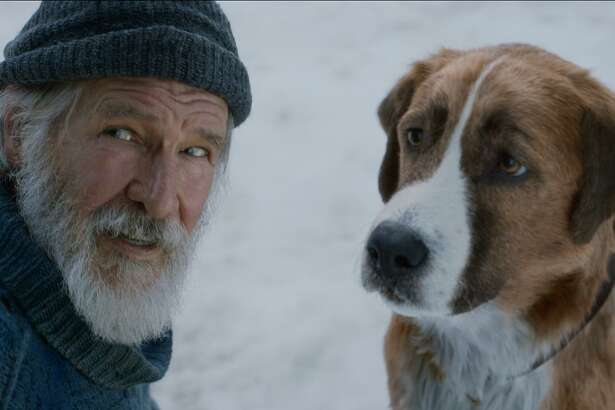 "Harrison Ford stars alongside Buck, the CGI dog, in ""The Call of the Wild."""