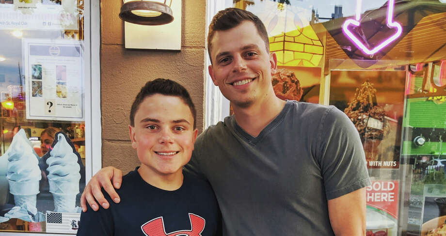 Brandon Krause (right) poses with his brother Dominic in a recent photo. Photo: Photo Provided